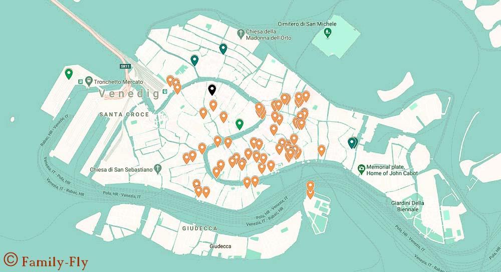 Venedig Karte