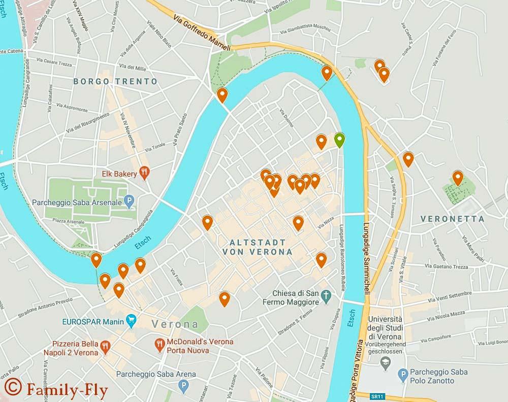 Unsere Karte für Verona