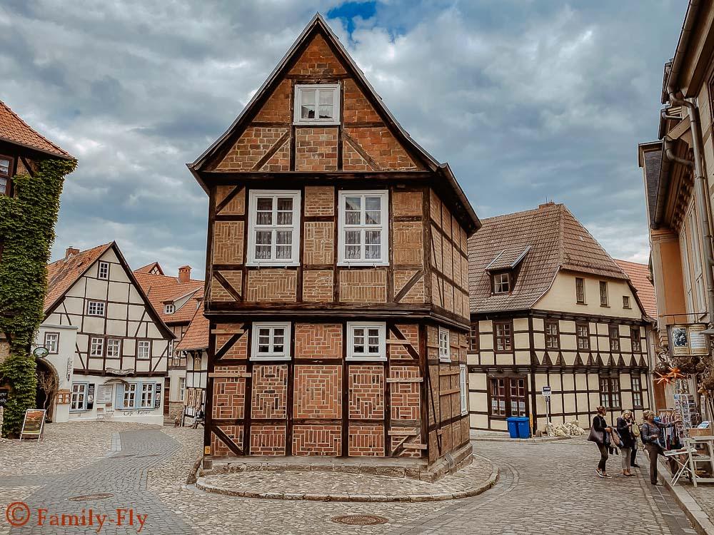 Quedlinburg Gassen Fachwerk